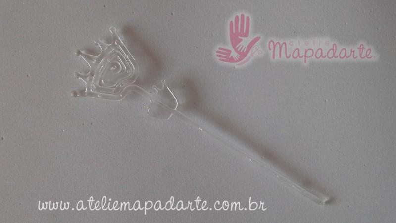 Foto 1 - Cód M2011 Espiral em plástico transparente com 10 unidades (coroa)