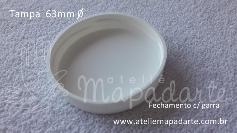 Foto3 - Cód M2016 Tampa plástica branca 63mm 01 un