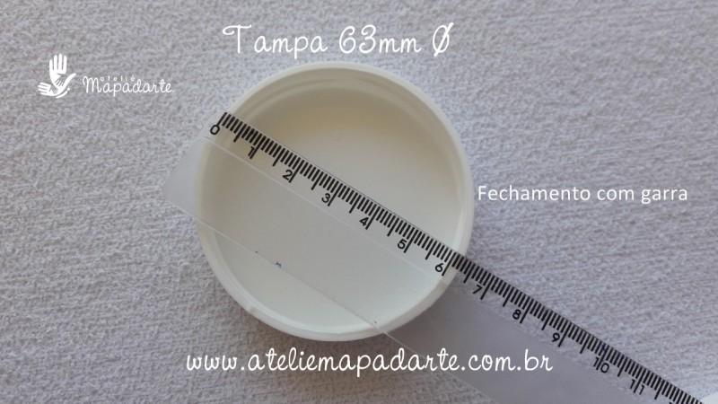 Foto2 - Cód M2016 Tampa plástica branca 63mm 01 un