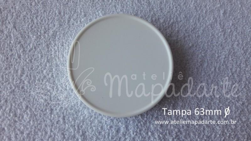 Foto 1 - Cód M2016 Tampa plástica branca 63mm 01 un