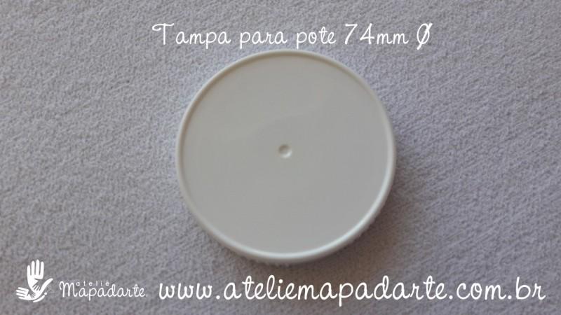Foto 1 - Cód M2017 Tampa plástica branca 74mm 01 un
