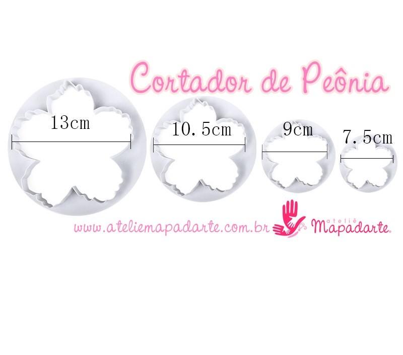 Foto2 - Cód M2019 Cortador de Peônia 04 un (importado)
