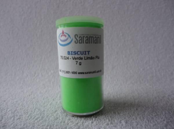 Foto 1 - Cód M214 Corante verde limão fluorescente