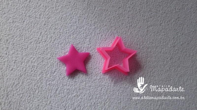 Foto 1 - Cód M2243 Cortador de estrela em plástico PLA ref. 035-3 01 un (AC)