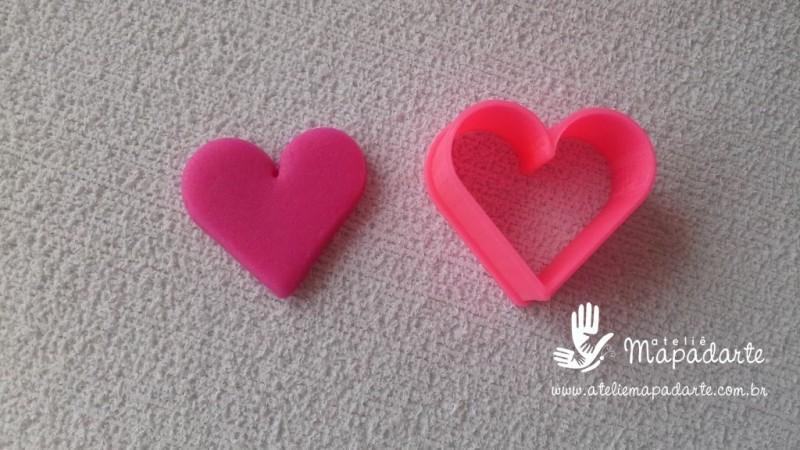 Foto 1 - Cód M2245 Cortador de coração em plástico PLA ref. 085-3 01 un (AC)