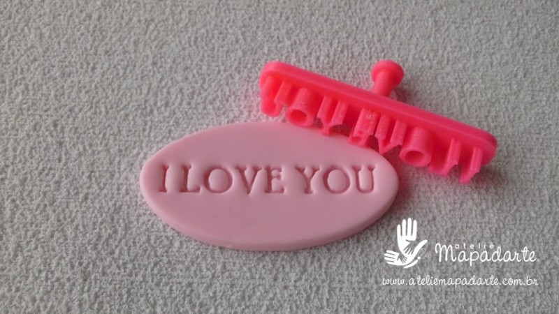 Foto 1 - Cód M2248 Carimbo I LOVE YOU em PLA 01 un ref. 343 (AC)