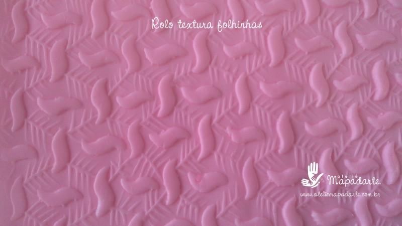 Foto 1 - Cód M2262 Rolo de textura folhinhas 20 cm