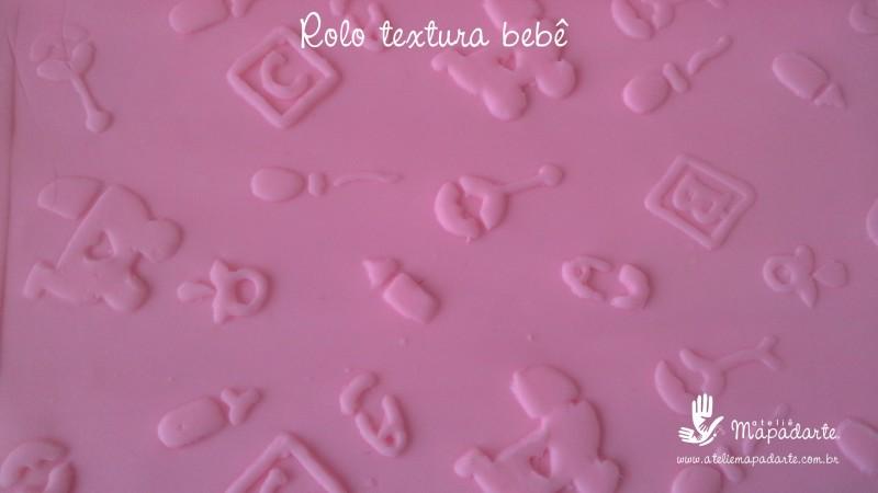 Foto 1 - Cód M2264 Rolo de textura bebê 20 cm