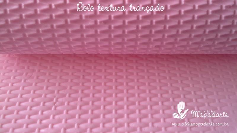 Foto2 - Cód M2265 Rolo de textura trançado 10 cm
