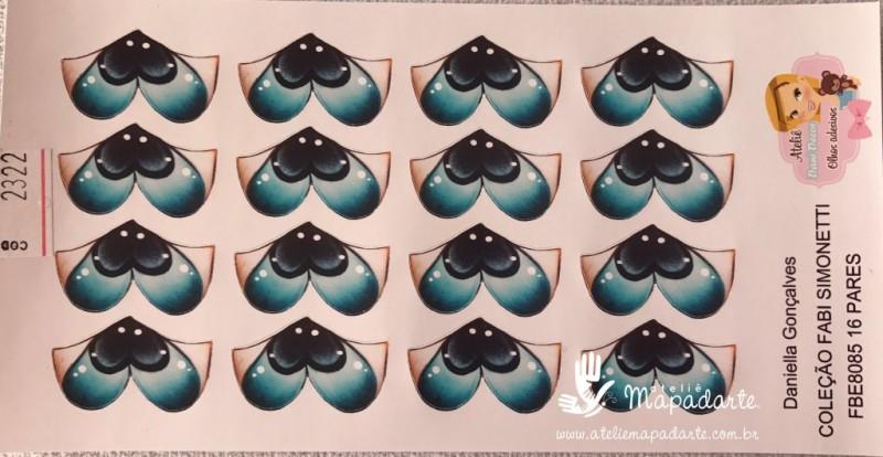 Foto 1 - Cód M2322 Adesivo de olhos FBE8085 16 pares