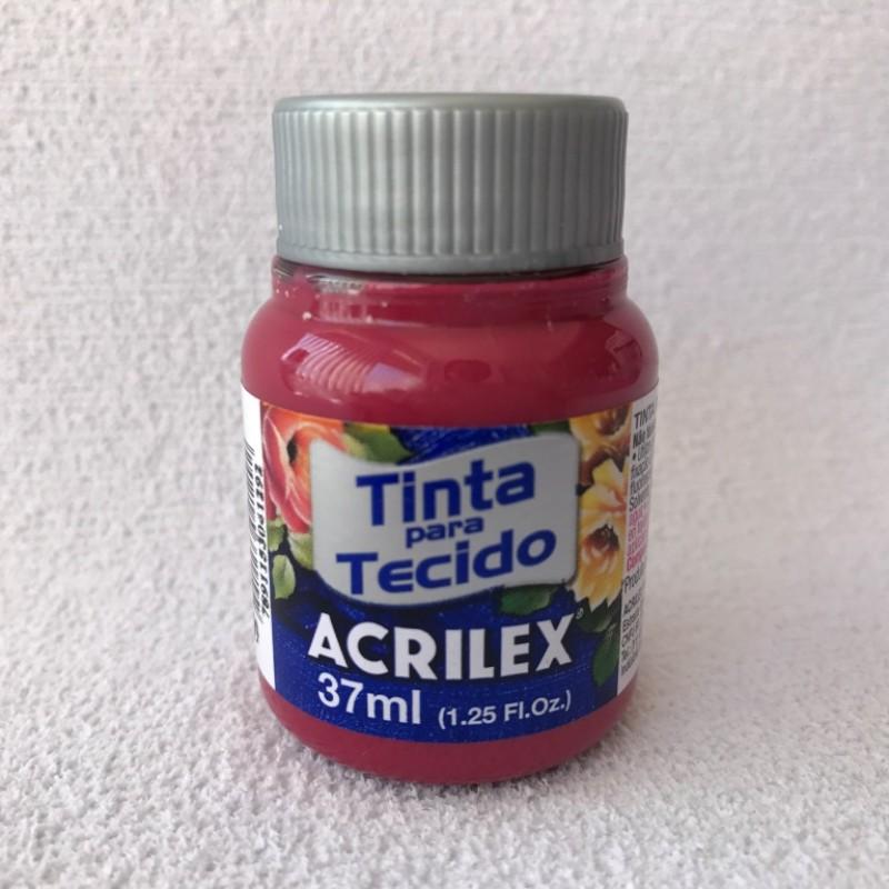 Foto 1 - Cód M2353 Tinta de tecido vermelho carmim 37 ml (509)