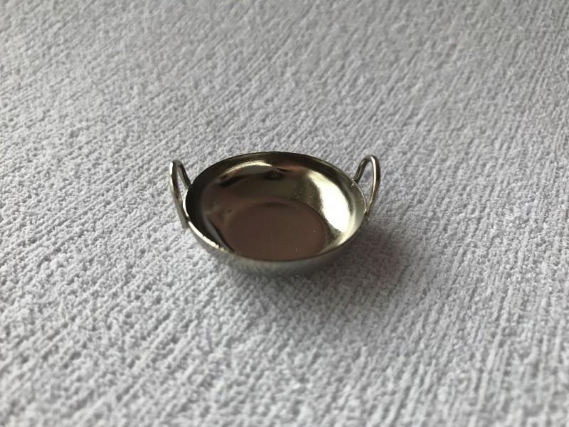 Foto 1 - Cód M2372 Miniatura de tacho metal prata P (A69/03) 01 un