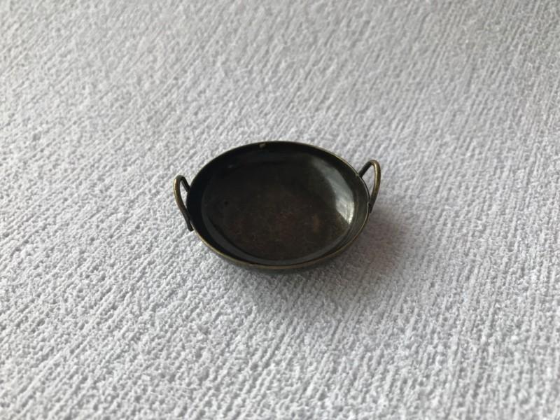 Foto 1 - Cód M2380 Miniatura de tacho envelhecido em metal G (A69/01) 01 un