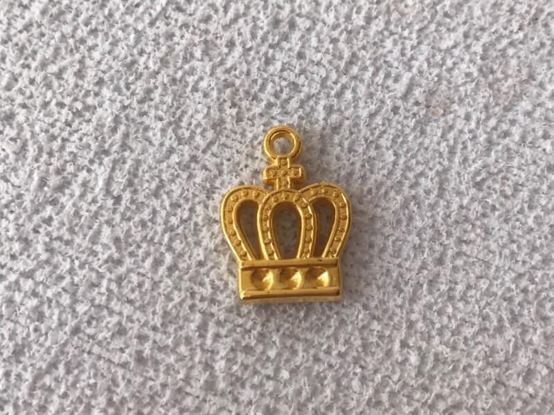 Foto 1 - Cód M2396 Coroa dourada em abs com cruz 10un