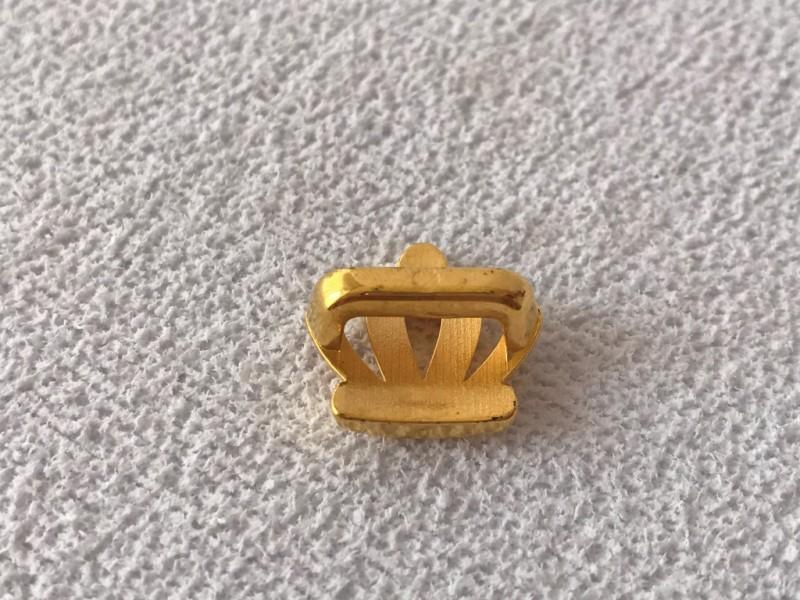 Foto2 - Cód M2397 Coroa dourada em abs com 10un