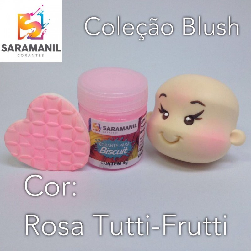 Foto 1 - Cod M2473 Corante Saramanil Blush rosa tutti-frutti 4g
