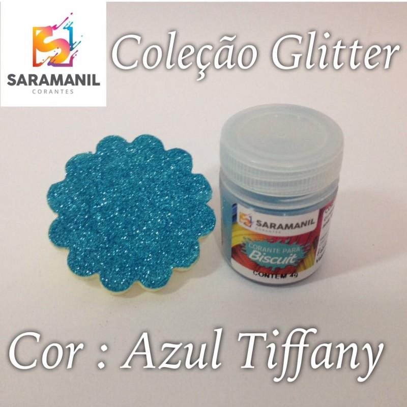 Foto 1 - Cod M2476 Corante Saramanil Glitter azul tiffany 4g