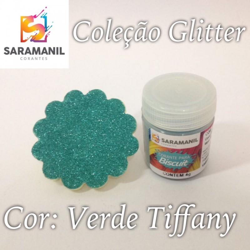 Foto 1 - Cod M2480 Corante Saramanil Glitter verde tiffany 4g