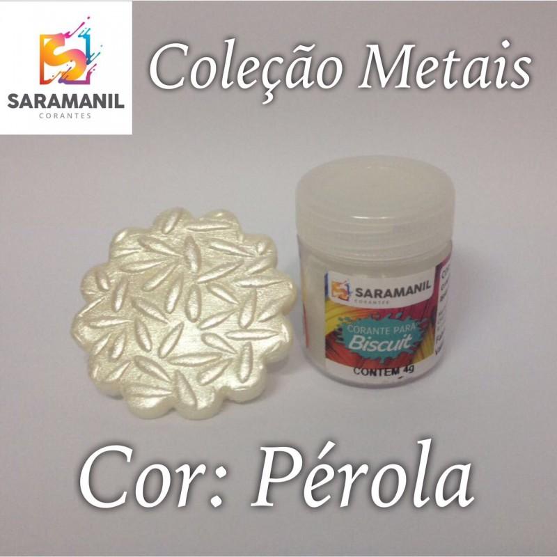 Foto 1 - Cod M2481 Corante Saramanil Metais pérola 4g