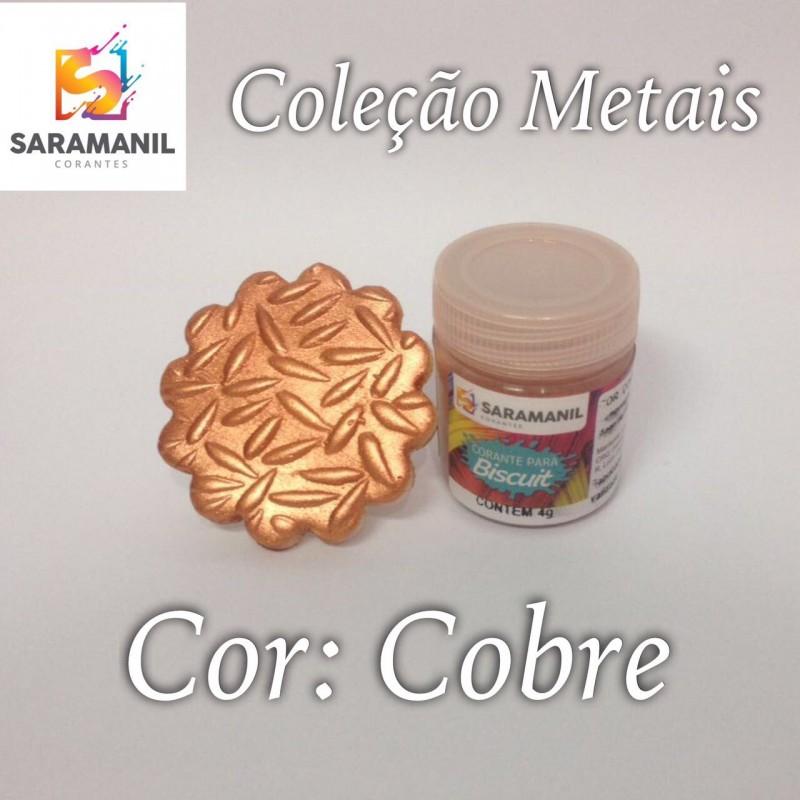 Foto 1 - Cod M2482 Corante Saramanil Metais cobre 4g