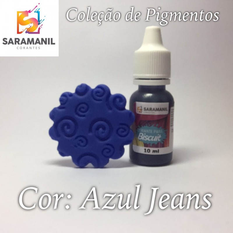 Foto 1 - Cod M2487 Corante Saramanil líquido azul jeans 10 ml