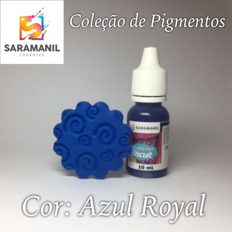 Foto 1 - Cod M2488 Corante Saramanil líquido azul royal 10 ml