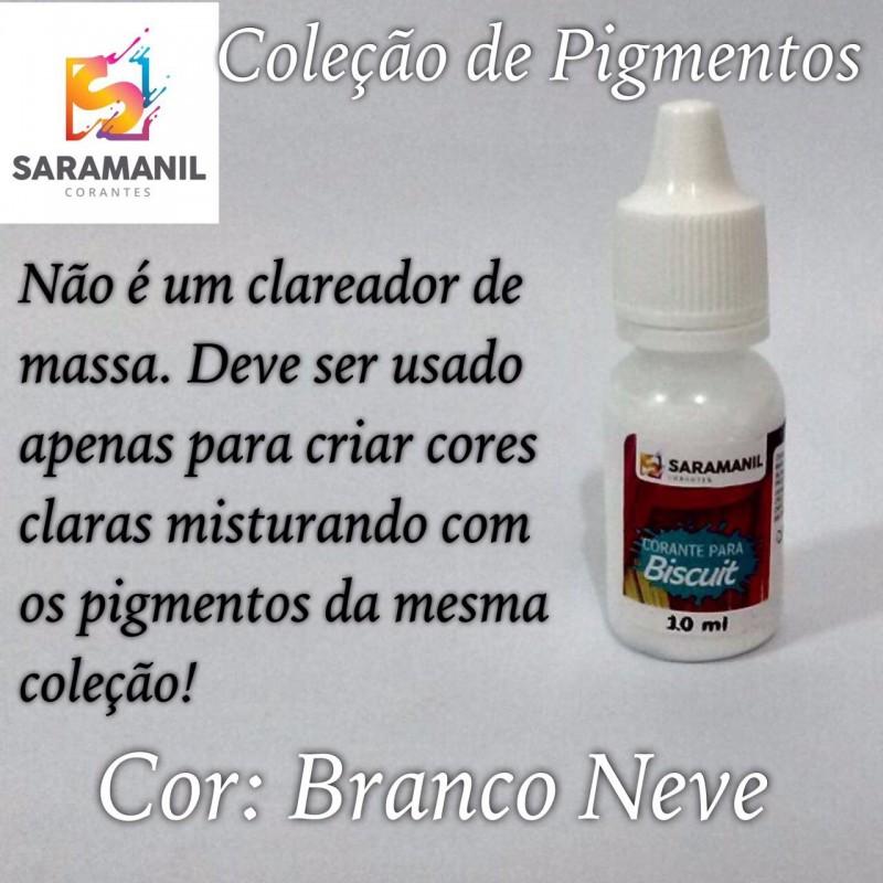 Foto 1 - Cod M2489 Corante Saramanil líquido branco neve 10 ml