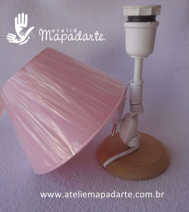 Foto2 - Cód M251 Abajur cúpula rosa 110 volts 01 un