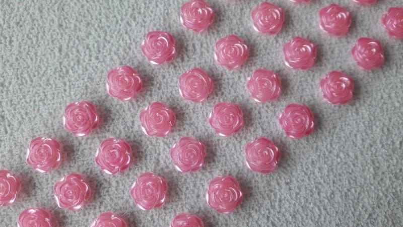 Foto 1 - Cód M2620 Cartela adesiva de mini rosa 12mm 01 cartela