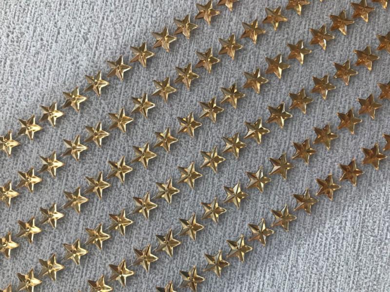 Foto 1 - Cód M2645 Cartela adesiva de estrela dourada 10mm 01 cartela