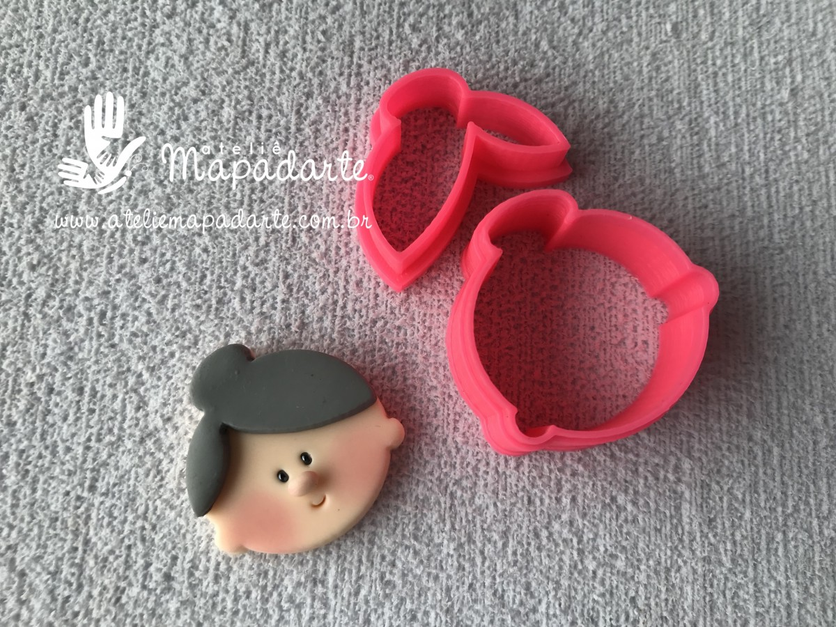 Foto 1 - Cód M2705 Cortador de rosto de vovó em plástico PLA 02peças ref. 407-3 (AC)