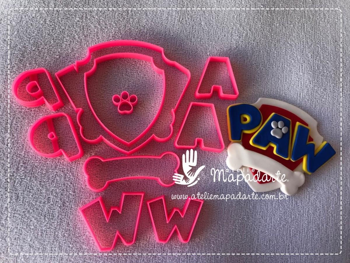 Foto 1 - Cód M2731Cortador de símbolo patrulha canina em plástico PLA 10 peças ref. 440-11(AC)