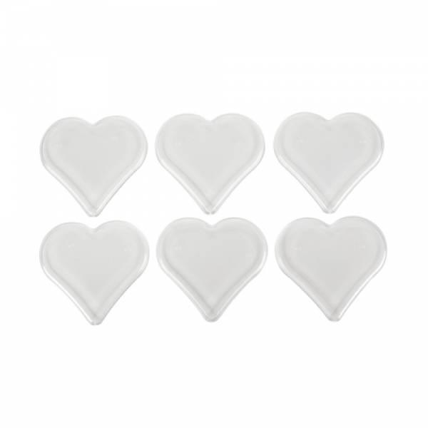 Foto 1 - Cód M317 Base coração transparente 7x7 c/ 6 un
