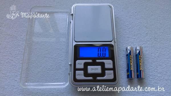 Foto 1 - Cód M342 Mini balança precisão 500 gr (Balança de bolso) 1 un