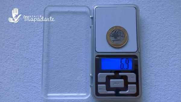 Foto2 - Cód M342 Mini balança precisão 500 gr (Balança de bolso) 1 un
