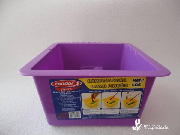 Foto 1 - Cód M349 Bandeja para lavar pincéis condor 01 un (SEM OPÇÃO DE ESCOLHA DE COR)