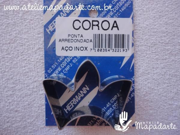 Foto 1 - Cód M353 Cortador inox de coroa ponta arredondada (H)
