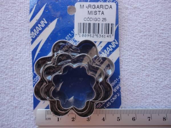 Foto2 - Cód M382 Cortador inox de margarida mista 03 un (H)