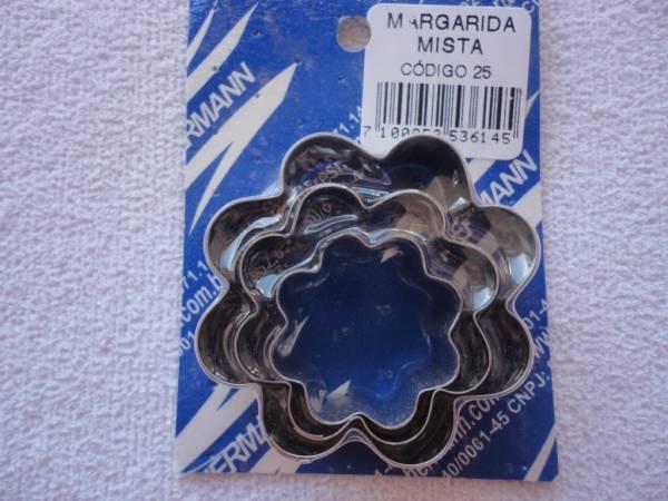 Foto 1 - Cód M382 Cortador inox de margarida mista 03 un (H)