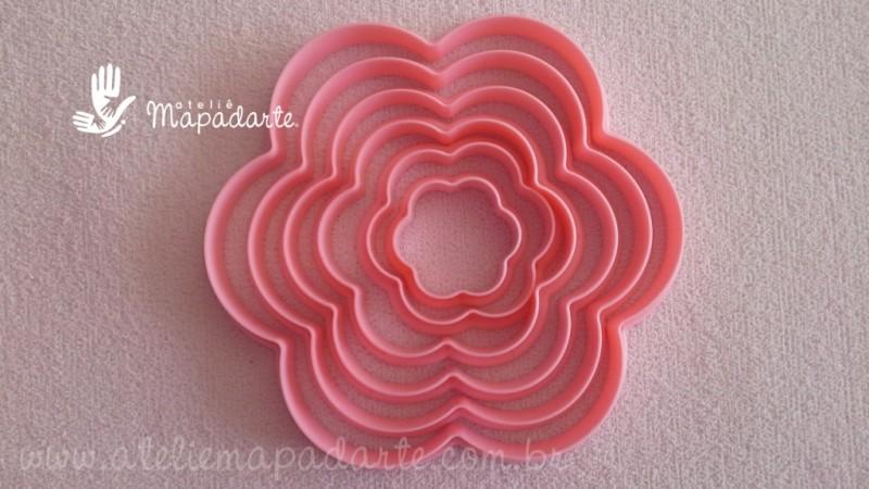 Foto2 - Cód M388 Kit cortador de babado rosa com 06 un
