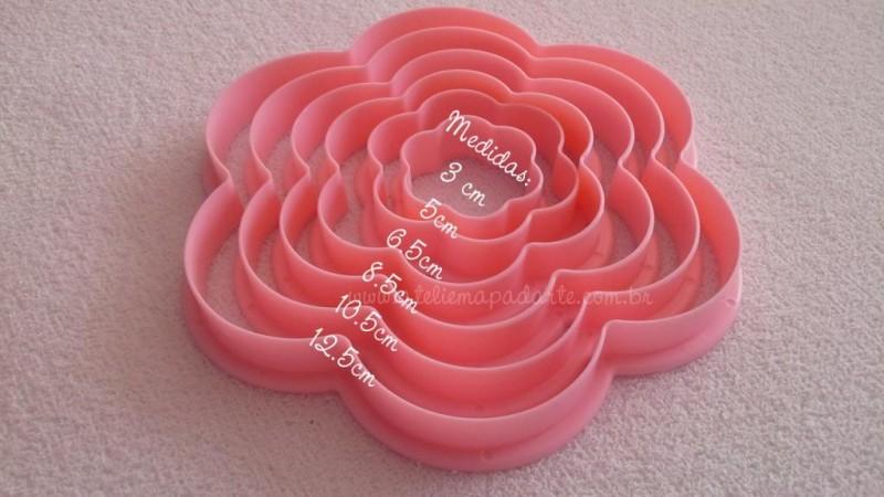 Foto 1 - Cód M388 Kit cortador de babado rosa com 06 un