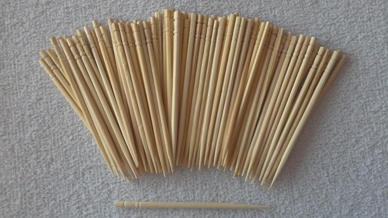 Foto2 - Cód M1158 Palito de bambú ( para coktail ) 100 un
