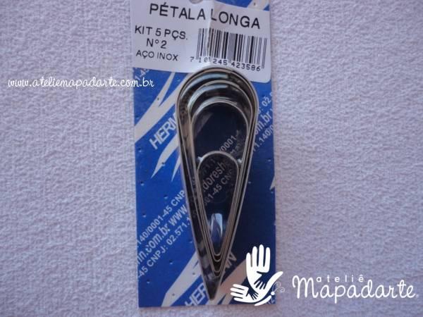 Foto 1 - Cód M424 Cortador inox de pétala (gota) longa 05 un nº 02 (H)