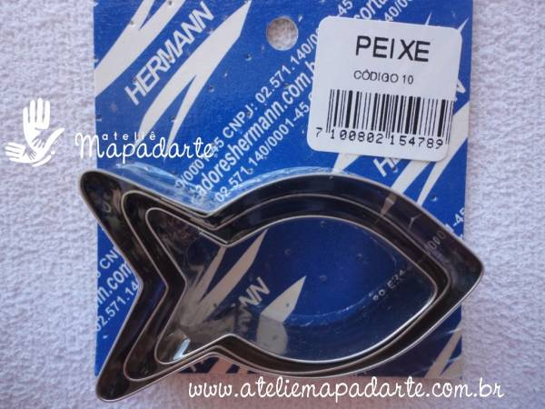 Foto 1 - Cód M482 Cortador inox de peixe com 3 un (10) (H)