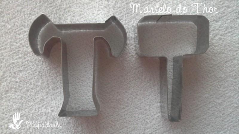 Foto 1 - Cód M491 Cortador inox martelo e letra T (Thor) P