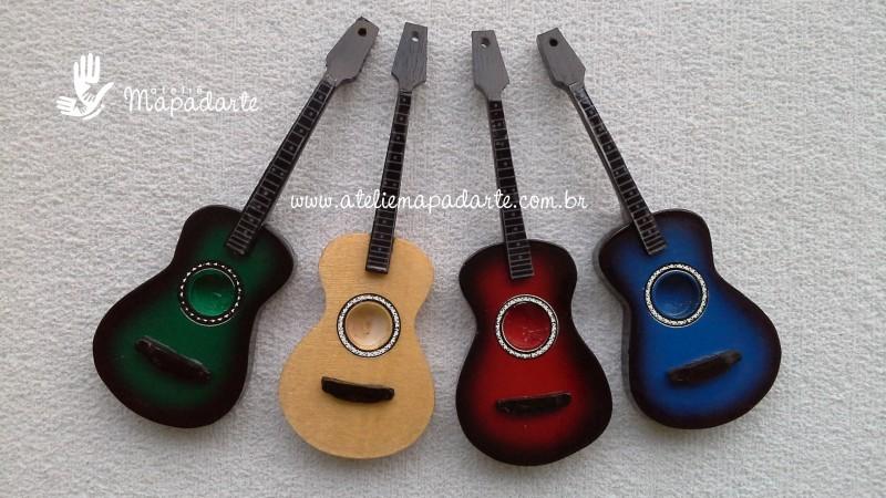 Foto 1 - Cód M510 Miniatura violão 01 un (somente cor azul)