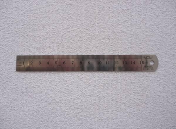 Foto 1 - Cód M539 Régua de aço 15 cm