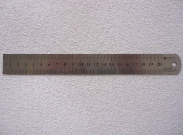 Foto 1 - Cód M540 Régua de aço 20 cm 01un
