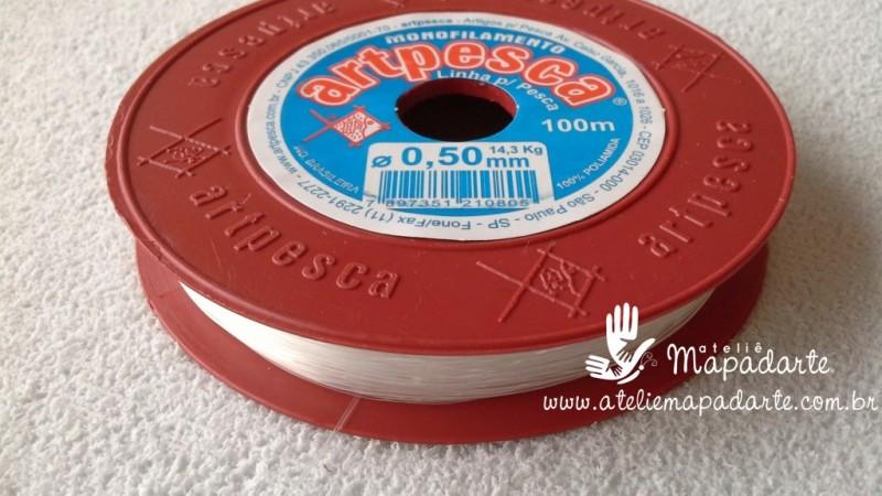 Foto 1 - Cód M550 Linha de nylon transparente 50mm com 100 mt