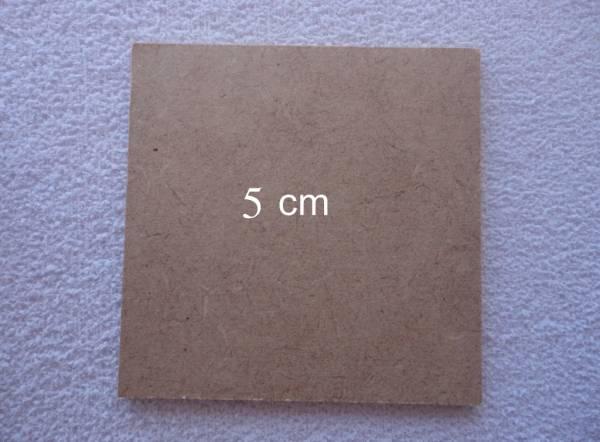 Foto 1 - Cód M554 Base MDF quadrada 5x5 cm